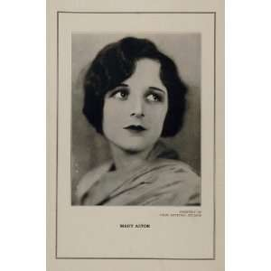 1927 Silent Film Star Mary Astor First National Print