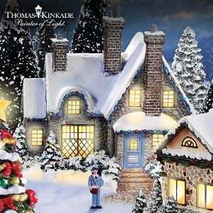 Thomas Kinkade Christmas Village Collection Cobblestone