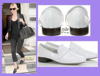 REPETTO JACKSON WHITE PATENT LOAFER 38.5 US 7 UK 4.5