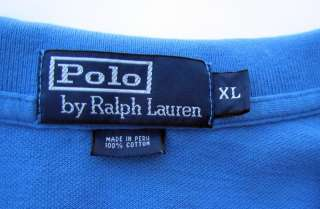Vtg POLO Ralph Lauren Crest Long Sleeve Shirt 1967 Deer Pocket Blue LS