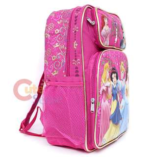 Disney Princess School Backpack Bag 16 Large Pink