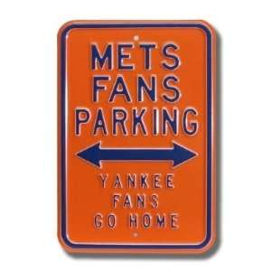 NEW YORK METS METS FANS PARKING Yankee Fans Go Home AUTHENTIC METAL