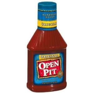 Open Pit Original Squeeze Bottle Barbecue Sauce 18 oz (Pack of 12
