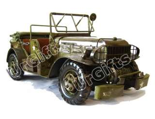 UrGifts     Vintage Hand Made 116 WWII Dodge Jeep WC57 Command Car
