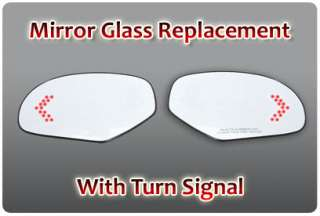 PS Right RH Red Light LED Turn Signal Heated Mirror Side Glass Truck