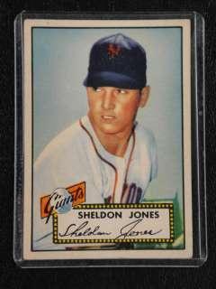 1952 TOPPS #130 SHELDON JONES NEW YORK GIANTS RED BACK