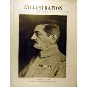 1916 Portrait General Mangin Douaumont Ww1 War Print Home & Kitchen
