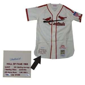 Stan Musial 1944 White Mitchell and Ness St. Louis Cardinals Jersey