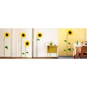 Sunflowers Wall Stickers Repositionable and Removable