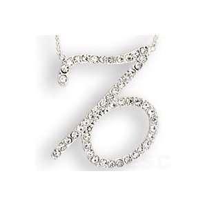 Silver Plated Crystal Capricorn Zodiac Necklace SZ 18 Jewelry