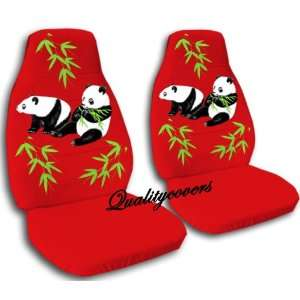 2 red Panda bear car seat covers, for a 2003 Ford Focus