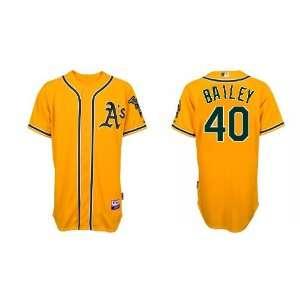 Wholesale Oakland Athletics #40 Andrew Bailey Yellow