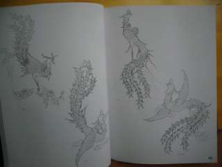 Dragon and Phoenix Chinese painting Book Reference sketch Tattoo Flash