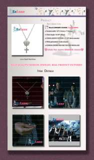 Korean drama TV IRIS Kim Tae Hee Crown Cross Necklace ♥