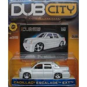 Dub City Pearl White Cadillac Escalade EXT 164 Scale Die Cast Car