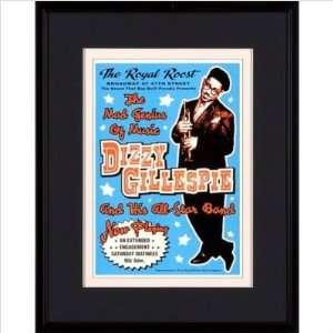 Phoenix Galleries JE5 Dizzy Gillespie in 1948 Framed Print