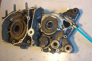 Yamaha 1974 DT 360 A Left Engine Motor Case Half ( NEEDS REPAIR