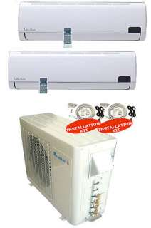 Dual Zone Ductless Split Air Conditioner SEER 16 12+12