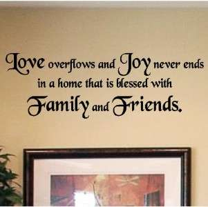 Love Joy Friend Home Wall Saying Quotes Vinyl Lettering