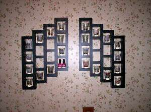40 KIDROBOT WALL DISPLAY 2 SHELF BLACK NEW WOOD DUNNY