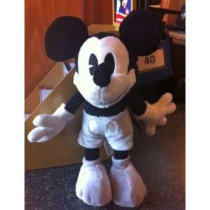 Disney Mickey Mouse Black and White Collectible Plush Doll