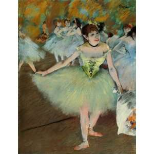 Oil Painting On Stage Edgar Degas Hand Painted Art Home