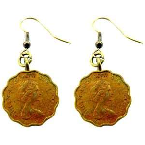 Originals Queen Elizabeth Dangle Coin Earrings: Gina Burns: Jewelry