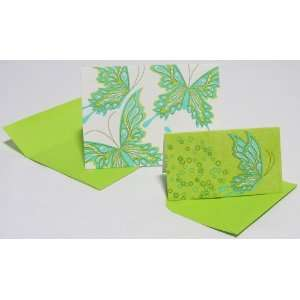 Elum Painted Butterfly Letterpress Note Cards/Gift Cards