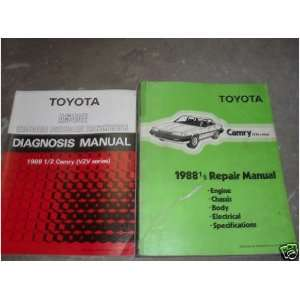 1988 1/2 Toyota Camry Service Repair Shop Manual Set (diagnosis manual