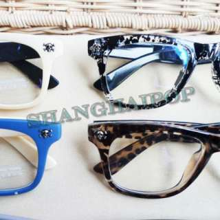 Clear Lens Glasses Wayfarer Frame Funky Fashion Emo Girl Lady