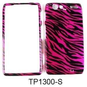 com Motorola Droid RAZR XT912 Transparent Design Hot Pink Zebra Print