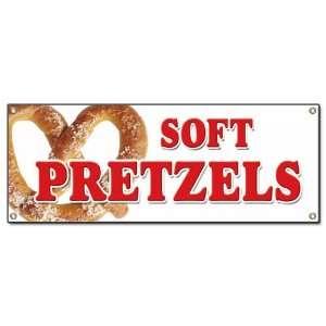 SOFT PRETZELS BANNER SIGN pretzel stand cart signs Patio