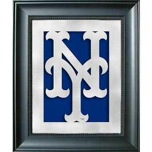 New York Mets Framed Laser Cut Metal Wall Art