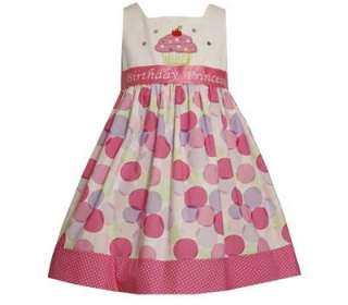 Bonnie Jean Girls Princess Poka Dot Cupcake Pastel Birthday Party