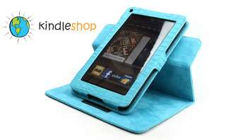 NEW TURQUOISE / Blue  Kindle FIRE Plush Adjustable Case Cover