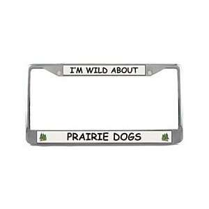 Prairie Dog License Plate Frame (Chrome)