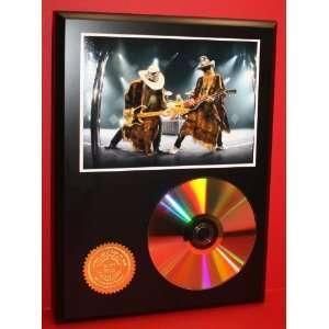 ZZ Top 24kt Gold Art CD Disc Display   Musician Artwork   Award