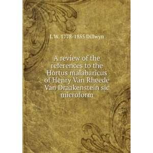 Henry Van Rheede Van Draakenstein sic microform L W. 1778 1855