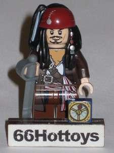 LEGO Pirates of the Caribbean Jack Sparrow Lego 4184 Mini Figure NEW