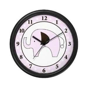 Polka Dot Elephant Decorative Round Wall Clock 10