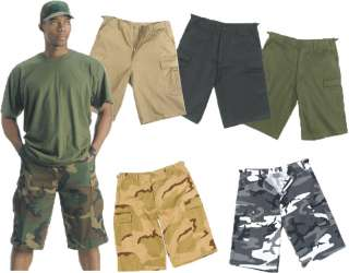 Camouflage Military Fatigue Extra Long BDU Cargo Shorts