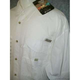 Mens COLUMBIA PFG NEW XL Extra Large long sleeve white fishing gear