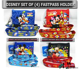 DISNEY MICKEY MOUSE SET LANYARD FASTPASS TICKET