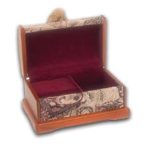 Fabulous Fabric Covered Medium Sized Jewelry Box