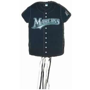 OTTA PINATA Florida Marlins Baseball   Shirt Shaped Pull String Pinata