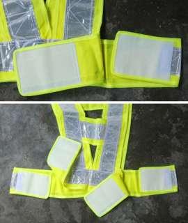 Reflective Safety Running Walking Vest wholesale green vest high