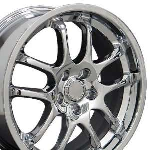 G35 Sedan 10 Spoke Wheel Fits Infinti   Chrome 18x8 Set of