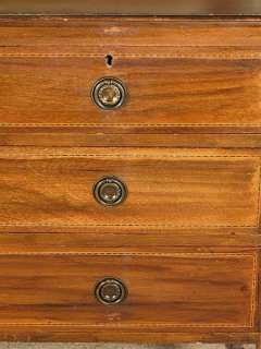 English MAHOGANY VANITY Chest DRESSER w/ Mirror C1905 h79a