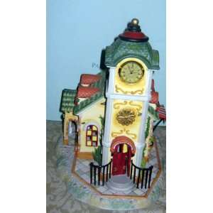 Partylite Clock Tower   Olde World Village   Retired