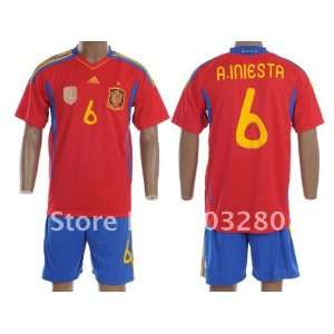 iniesda 2011 2012 embroidery quality away home soccer jersey football